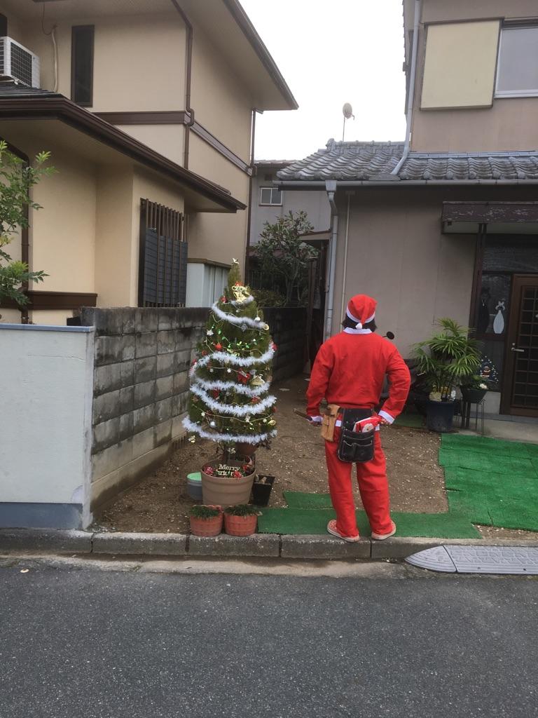 サンタが現場にやってきた